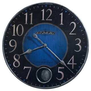 Howard Miller Harmon II Vibrant, Contemporary, Modern, Bold, Statement Wall Clock with Pendulum, Reloj De Pared