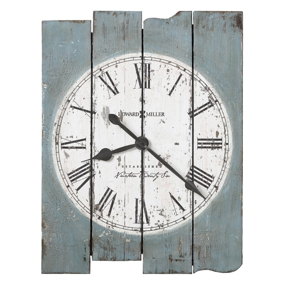 Howard Miller Mack Road Farmhouse Chic, Transitional, Vintage, Beachy and Rustic, Statement Gallery Wall Clock, Reloj De Pared