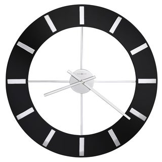 Howard Miller Onyx Elegant, Modern, Transitional, Sleek and Chic Gallery Wall Clock with Large Numbers, Reloj De Pared
