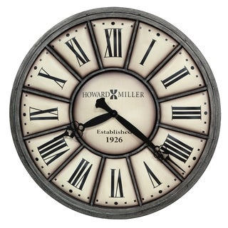 Howard Miller Company Time II Industrial, Transitional, Vintage, and Rustic, Statement Gallery Wall Clock, Reloj De Pared