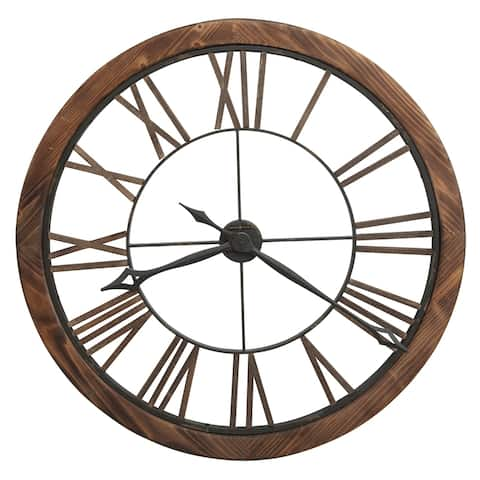 Howard Miller Thatcher Industrial, Transitional, Vintage, and Rustic, Statement Gallery Wall Clock, Reloj De Pared