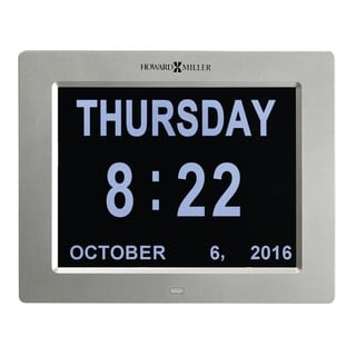 Link to Howard Miller Memory Clock Modern Dimentia Assistance Alarm Clock with Large Numbers, Date and Time Similar Items in Decorative Accessories