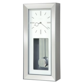 Howard Miller Chaz Elegant, Modern, Transitional, Sleek and Chic Chiming Wall Clock with Pendulum, Reloj De Pared