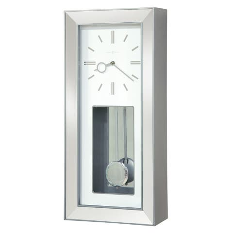 Howard Miller Chaz Elegant, Modern, Transitional, Sleek and Chic Chiming Wall Clock with Pendulum, Reloj De Pared