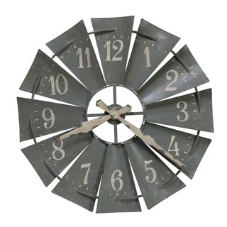 Howard Miller Windmill Wall Clock with a Contemporary Farmhouse, Industrial, Rustic Design, Reloj de Pared