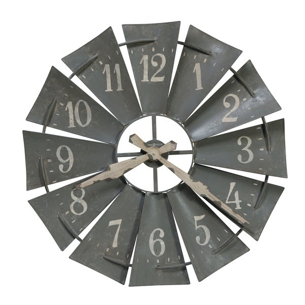 Howard Miller Windmill Wall Clock with a Contemporary Farmhouse, Industrial, Rustic Design, Reloj de Pared