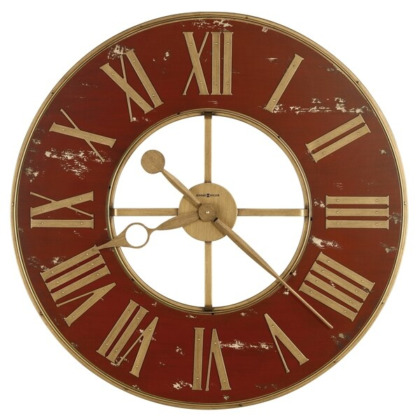 Howard Miller Boris Old World, Vintage, Antique, and Transitional Style Gallery Wall Clock, Reloj De Pared