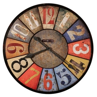 Howard Miller County Line Charming, Farmhouse Chic, Vintage, and Rustic Gallery Wall Clock, Reloj De Pared