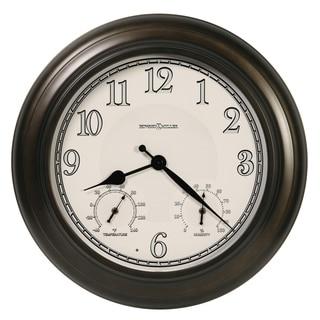 Howard Miller Briar Indoor & Outdoor Classic, Nautical Wall Clock with Temperature Gauges, Reloj de Pared