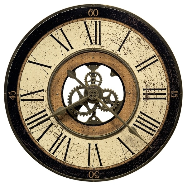Howard Miller Brass Works Old World, Transitional, Vintage, and Rustic, Statement Gallery Wall Clock, Reloj De Pared