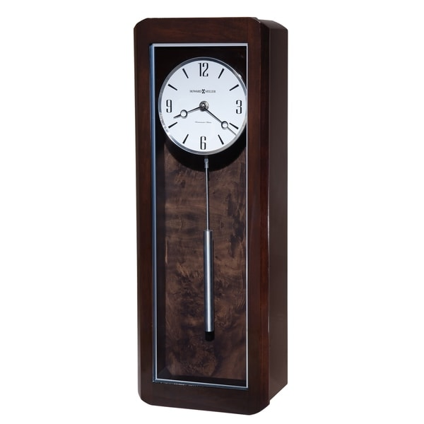 Howard Miller Aaron Elegant Contemporary Modern Bold Statement Chiming Wall Clock With