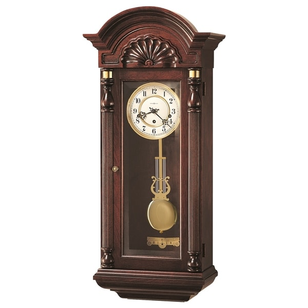 Howard Miller Jennison Grandfather Clock Style Chiming Wall Clock with Pendulum, Vintage, Old World, Classic Design