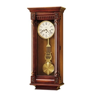 Howard Miller New Haven Grandfather Clock Style Chiming Wall Clock with Pendulum, Vintage, Old World, Classic Design