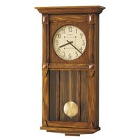 Howard Miller Ashbee II Grandfather Clock Style Chiming Wall Clock with Pendulum, Vintage, Old World, Classic Design