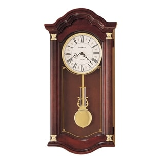 Howard Miller Lambourn I Grandfather Clock Style Chiming Wall Clock with Pendulum, Vintage, Old World, Classic Design
