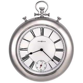 Howard Miller Hobson Transitional, Glam, Chic and Sleek, Large Pocket Watch Style Wall Clock, Reloj De Pared