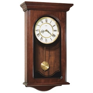 Howard Miller Orland Grandfather Clock Style Chiming Wall Clock with Pendulum, Vintage, Old World, Classic Design