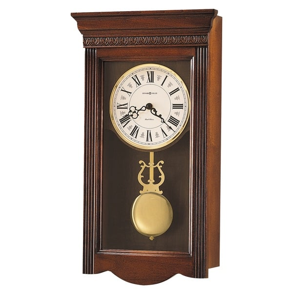 Howard Miller Eastmont Grandfather Clock Style Chiming Wall Clock with Pendulum, Vintage, Old World, Classic Design