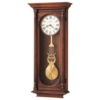 Howard Miller Helmsley Grandfather Clock Style Chiming Wall Clock with Pendulum, Vintage, Old World, Classic Design