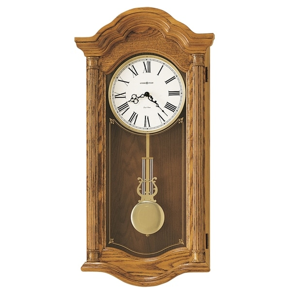 Howard Miller Lambourn II Grandfather Clock Style Chiming Wall Clock with Pendulum, Vintage, Old World, Classic Design
