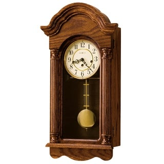 Howard Miller Daniel Grandfather Clock Style Chiming Wall Clock with Pendulum, Vintage, Old World, Classic Design
