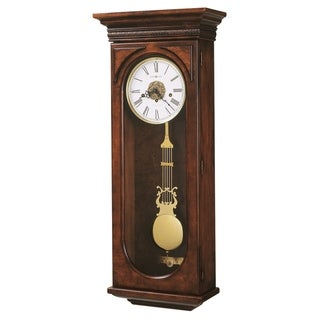 Howard Miller Earnest Grandfather Clock Style Chiming Wall Clock with Pendulum, Vintage, Old World, Classic Design