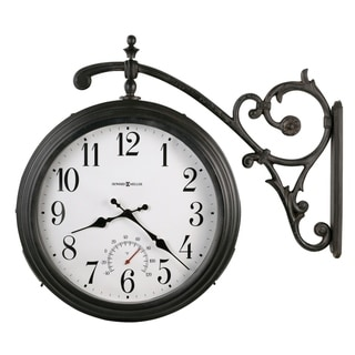 Howard Miller Luis Vintage, Charming, Transtitional, Double-Sided, Indoor & Outdoor Wall Clock with Floral Wall Mount