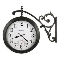 Howard Miller Luis Vintage-style Floral Double-Sided Indoor/Outdoor Wall Clock