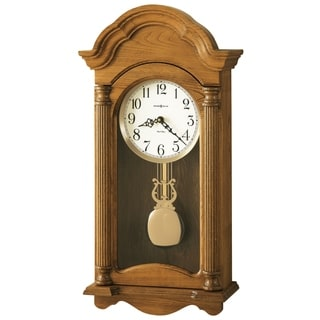 Howard Miller Amanda Grandfather Clock Style Chiming Wall Clock with Pendulum, Vintage, Old World, Classic Design