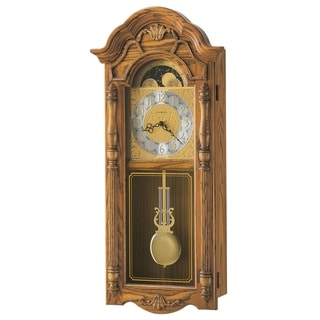 Howard Miller Rothwell Grandfather Clock Style, Chiming Wall Clock with Pendulum, Vintage, Old World, Classic Design