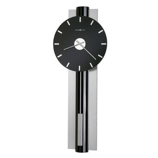 Howard Miller Hudson Chic, Sleek, Contemporary Modern, Transitional Style Bold Statement Wall Clock with Pendulum