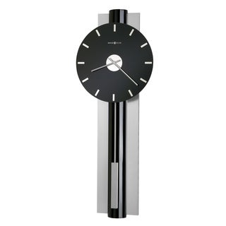 Howard Miller Hudson Chic, Sleek, Contemporary Modern, Transitional Style Bold Statement Wall Clock with Pendulum