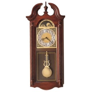 Howard Miller Fenwick Grandfather Clock Style Chiming Wall Clock with Pendulum, Vintage, Old World, Classic Design
