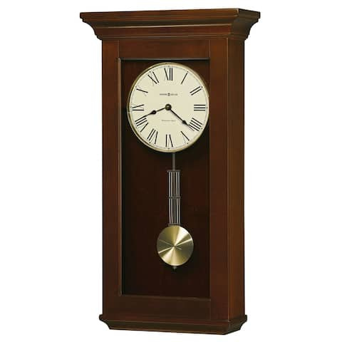 Howard Miller Continental Grandfather Clock Style Chiming Wall Clock with Pendulum, Charming, Vintage, Old World, Classic Design