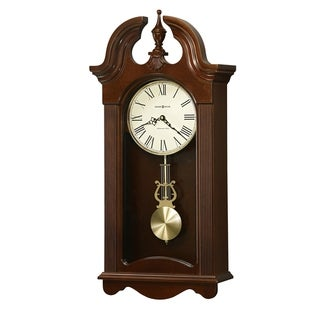 Howard Miller Malia Grandfather Clock Style Chiming Wall Clock with Pendulum, Charming, Vintage, Old World, Classic Design