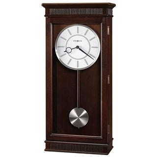 Howard Miller Kristyn Grandfather Style Chiming Wall Clock with Pendulum, Charming, Contemporary, Modern, Transitional Design