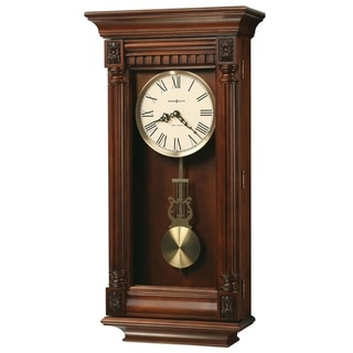 Howard Miller Lewisburg Grandfather Clock Style Chiming Wall Clock with Pendulum, Charming, Vintage, Old World, Classic Design
