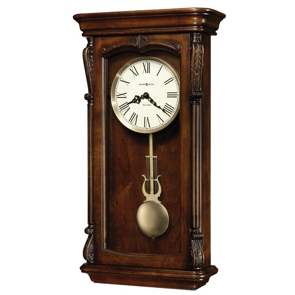 Howard Miller Henderson Grandfather Clock Style Chiming Wall With Pendulum Charming Vintage