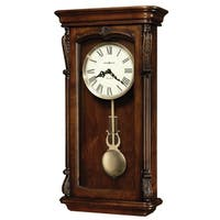 Howard Miller Henderson Grandfather Clock Style Chiming Wall Clock with Pendulum, Charming, Vintage, Old World, Classic Design