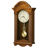 Howard Miller Jayla Grandfather Clock Style Chiming Wall Clock with Pendulum, Charming, Vintage, Old World, Classic Design