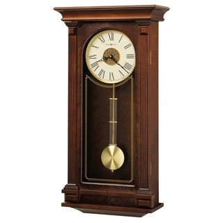 Howard Miller Sinclair Grandfather Clock Style Chiming Wall Clock with Pendulum, Charming, Vintage, Old World, Classic Design