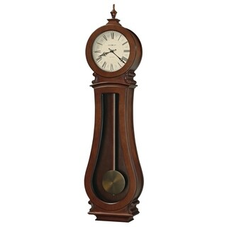 Howard Miller Arendall II Grandfather Clock Style Chiming Wall Clock with Pendulum, Charming, Vintage, Old World, Classic Design