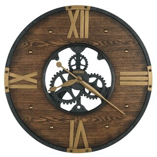 Howard Miller Murano Old World, Vintage, Eclectic, and Steampunk Style Gallery Wall Clock with Skeleton Movements