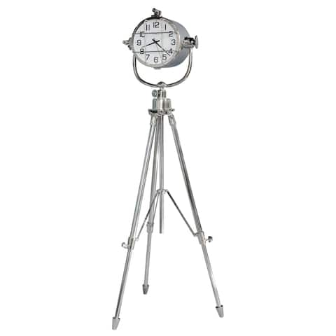 Howard Miller Nautical Marine Time Transitional Style Stainless Steel Standing Clock with Pendulum and Movements, Reloj de Piso