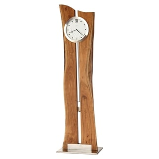 Howard Miller Otto Transitional Live Edge Grandfather Clock Style Standing Clock with Pendulum and Movements, Reloj de Piso