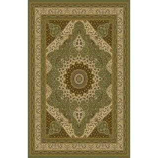 Rug Tycoon Fitz Sage Green/Beige Wool Traditional Oriental Runner Rug - 2'7 x 9'10