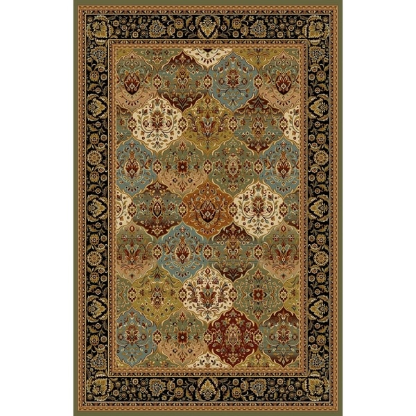 Rug Ty Alude Oriental Traditional Sage Green Wool Runner 2 7 X 9 10 Free Shipping Today 22820275