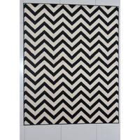 "Rug Tycoon Abstract Modern Contemporary Black Rug - 5'3""x7'2""rectangular"