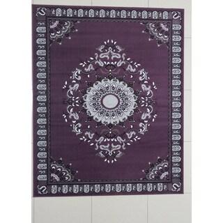 "Rug Tycoon Oriental Traditional purple Rug - 5'3""x7'2""rectangular"