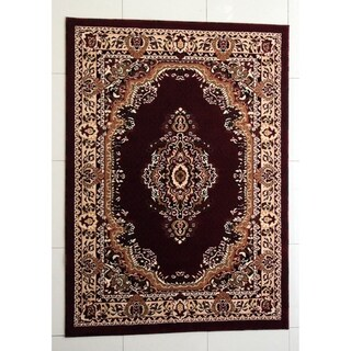 "Rug Tycoon Oriental Traditional Red Rug - 10'0""x13'0""rectangular"